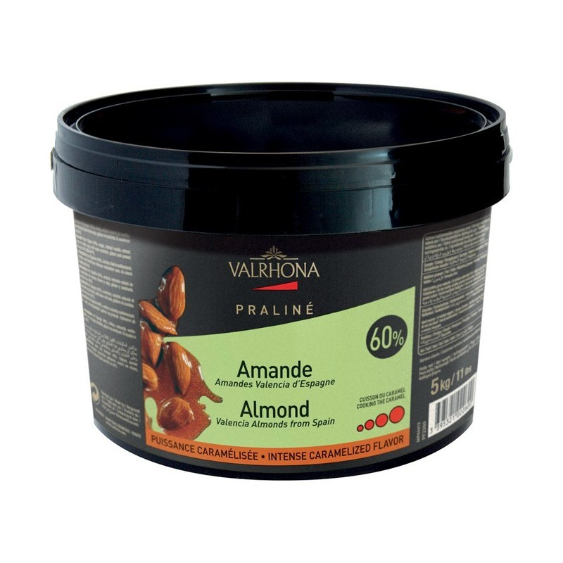 Valrhona 5 kg Candied 60% Almond praline mix