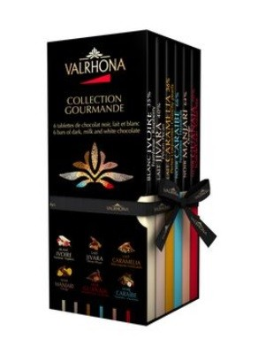 Valrhona Collection Gourmande - 6 chocolate tabs