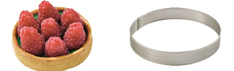 20cm perforated cake ring - 2 cm ht @
