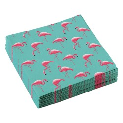 Serviettes Flamant Rose - Flamingo Paradise