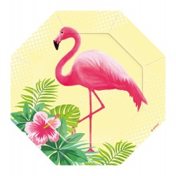 Assiettes Flamand Rose - Flamingo Paradise