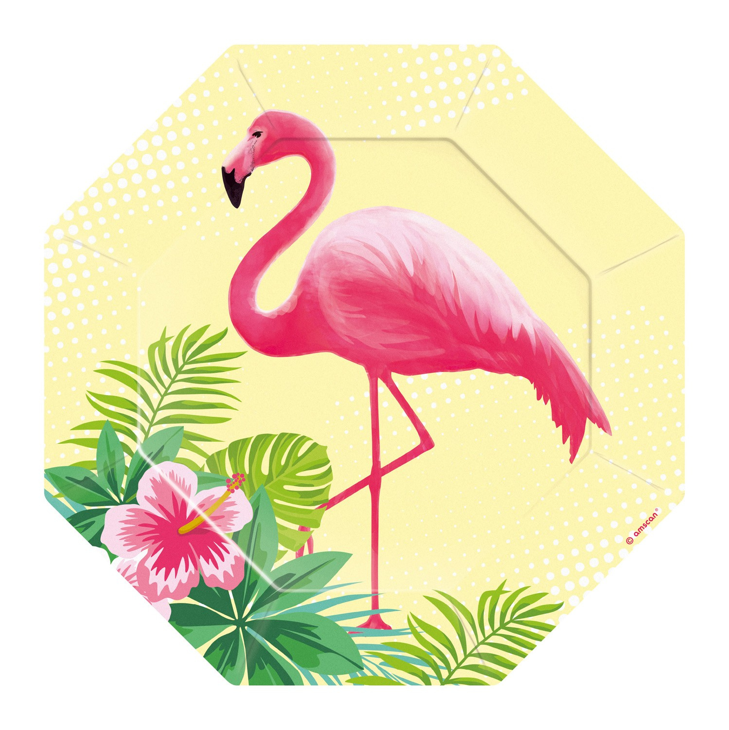 Flamingo Paradise – Greater flamingo cardboard plates