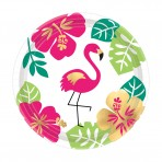 Aloha cardboard plates – Greater flamingo
