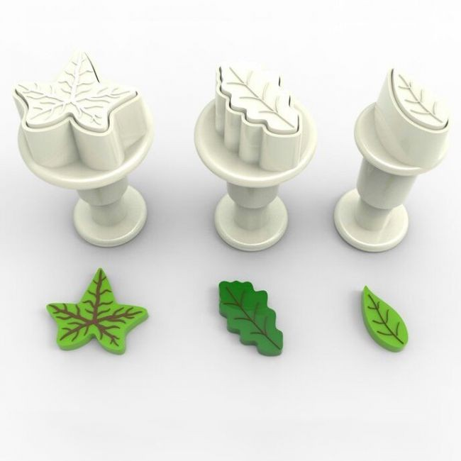 Small leaves cookie cutter with ejector x3 @