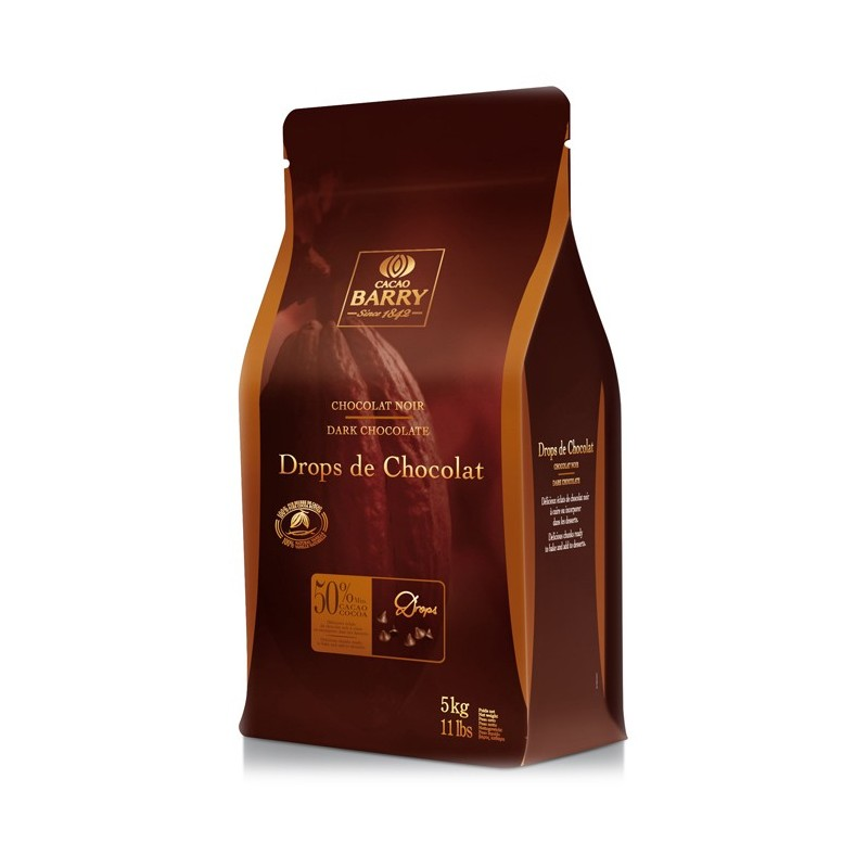 BARRY – CHOCOLATE DROPS (cocoa 50 %) 5KG BARRY