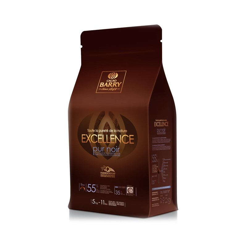 BARRY - EXCELLENCE  (cocoa 55%) BLOC 5KG