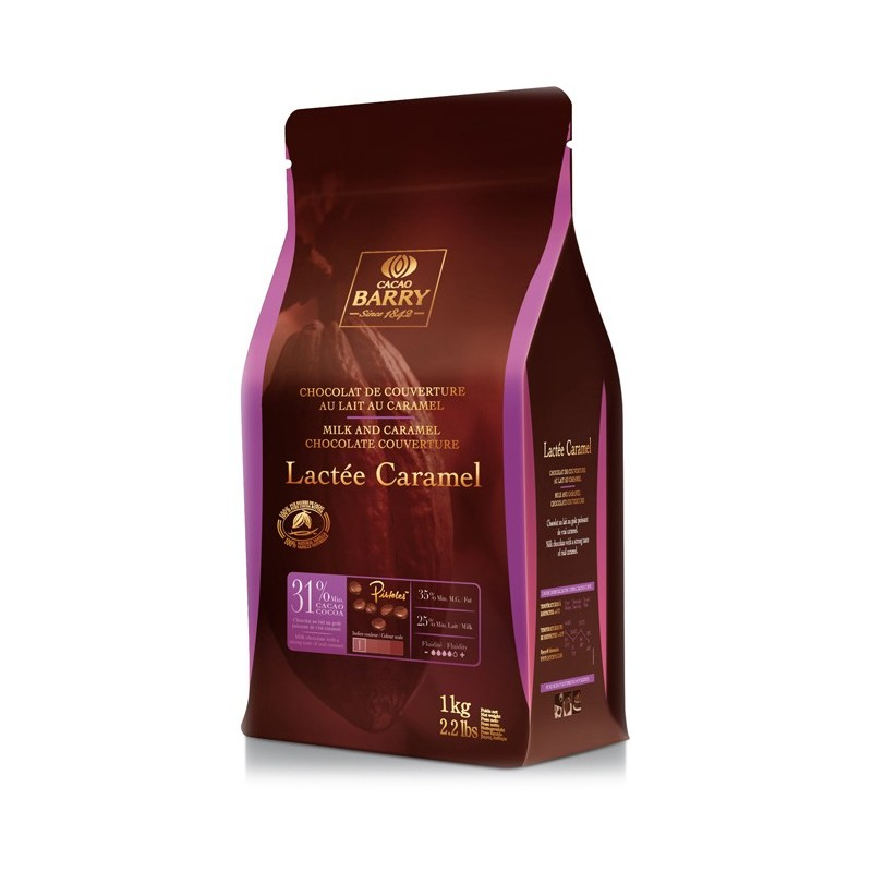 BARRY – LACTEE BARRY (cocoa 31.1%) made with actual caramel 1KG
