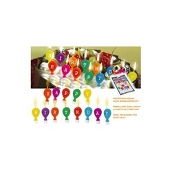 13 Bougies ballons colorés happy birthday