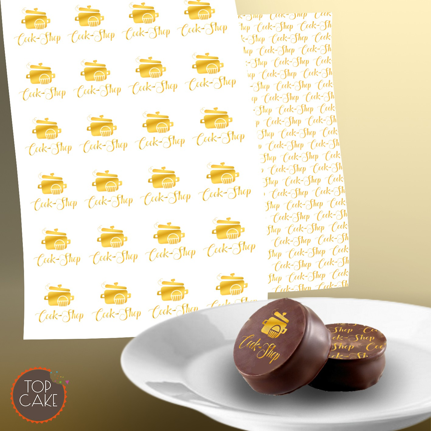 A4 print chocolate transfer sheet