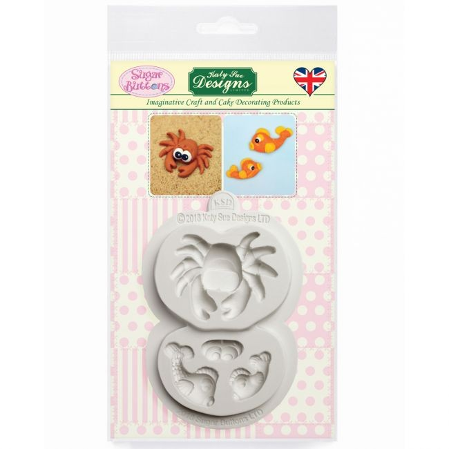 Katy Sue Crabs and fish silicone mould @