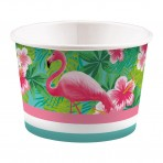Greater flamingo ice cream cup x 8
