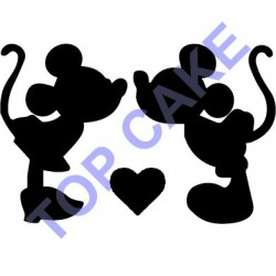 Pochoir Mickey et Minnie