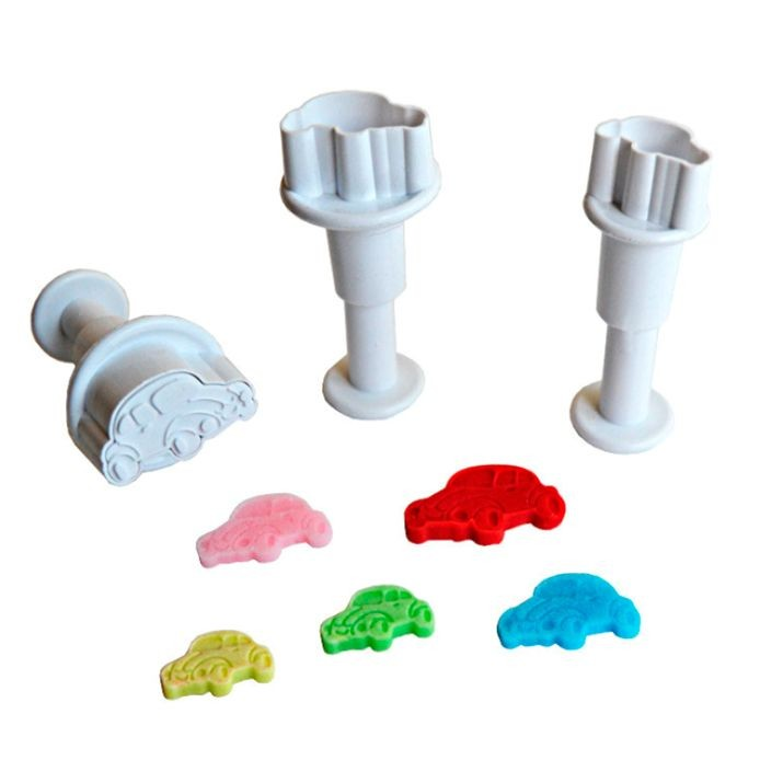 Small Cars cookie cutter with ejector x3 @