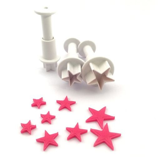 Small Stars cookie cutter with ejector x3 @