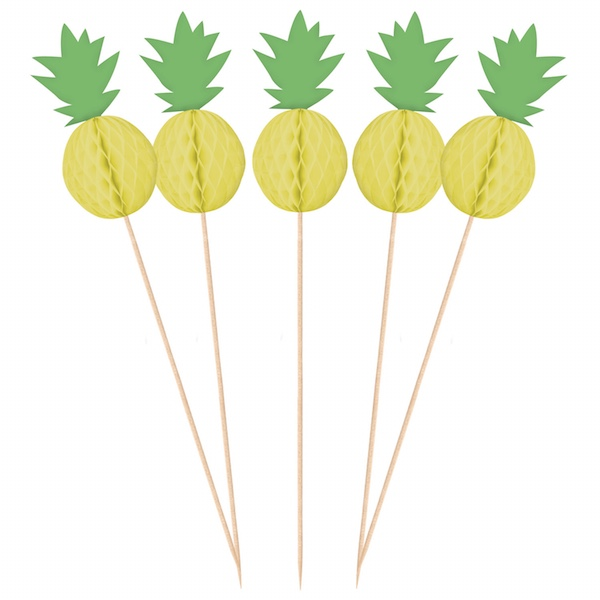 Pineapple decoration pick x10