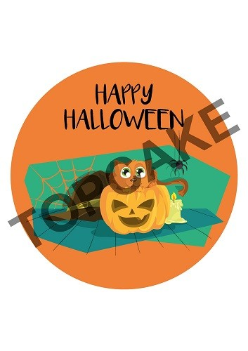 Happy Halloween Wafer sheet