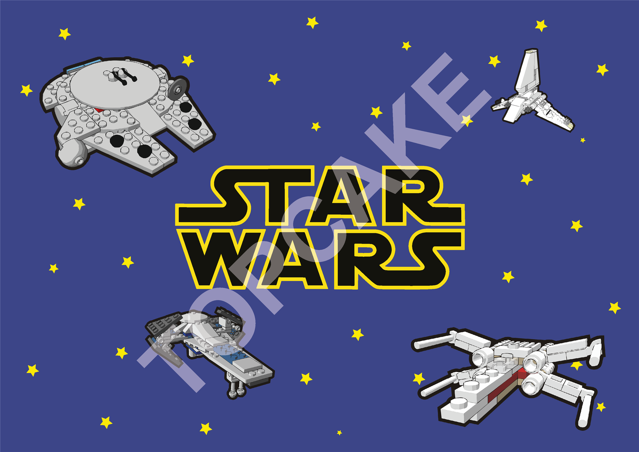 Feuille Azyme Star Wars A4 @