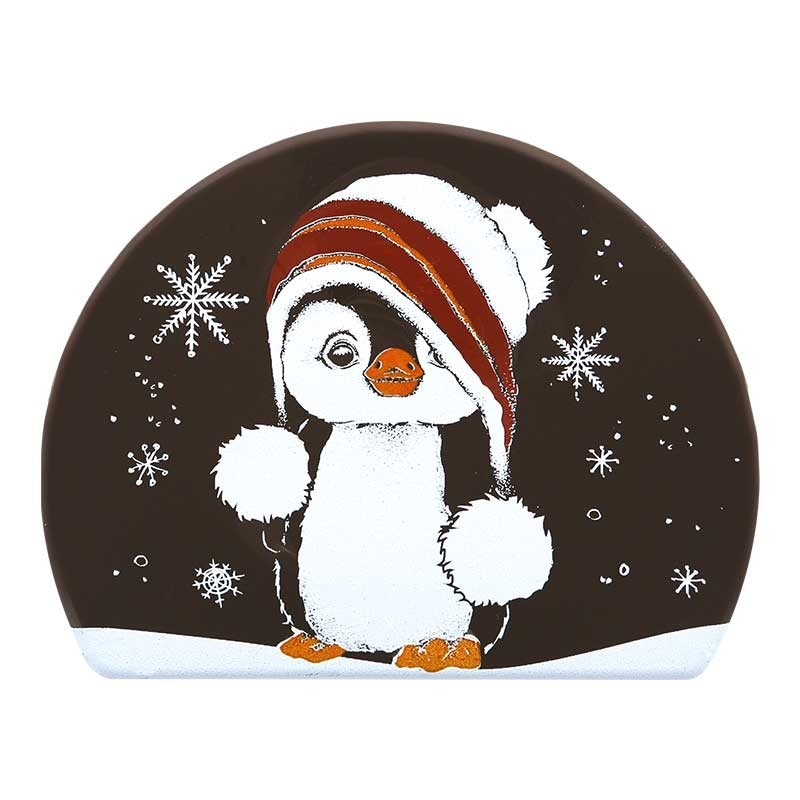 Pinguin Yule log chocolate cake sides