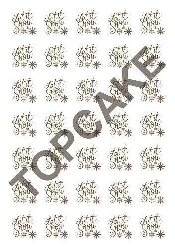 Top Cake – Let it snow transfer sheet