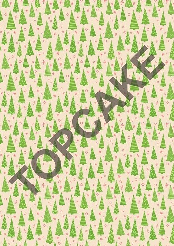 Top Cake – Pine tree transfer sheet
