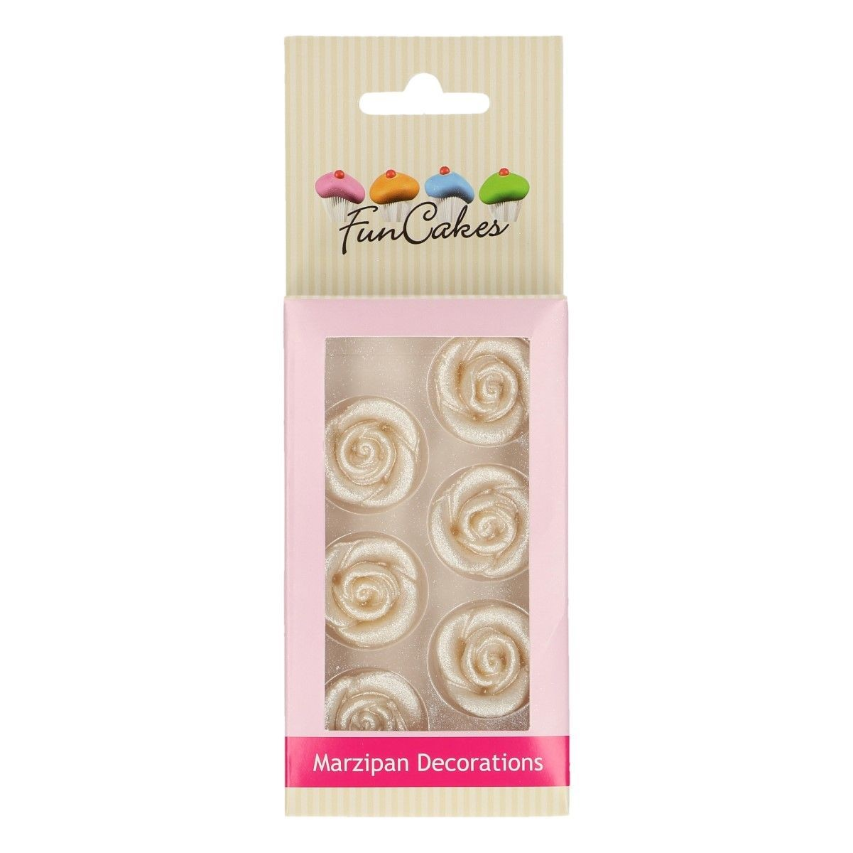 6 Silver Marzipan roses