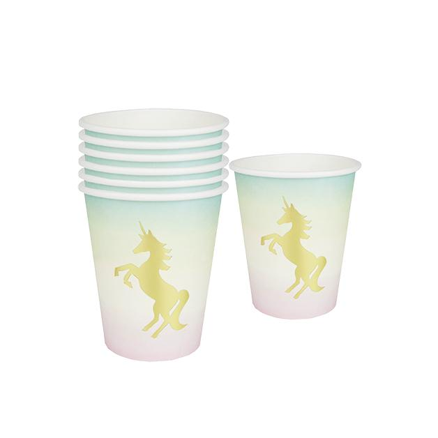 Unicorn cups x12