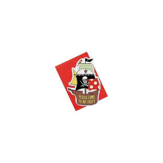 Cartons d'invitation Pirates