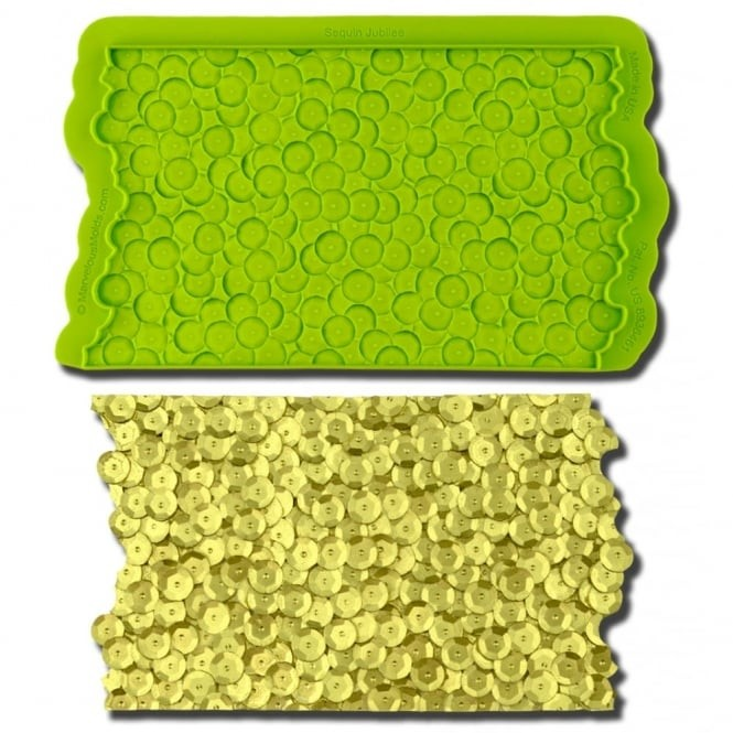 Silicone texture mould - sequin jubilee