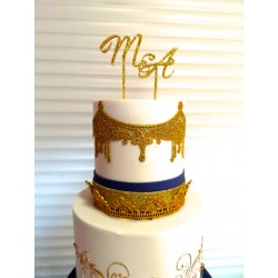 Initials customizable Cake topper 3D