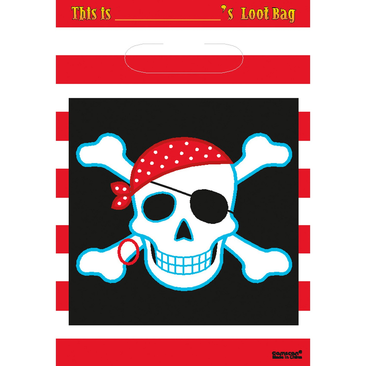 Pirate Party treat bag x8