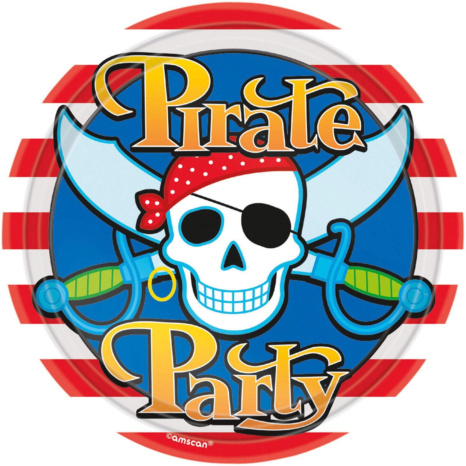 Pirate Party Plates x8