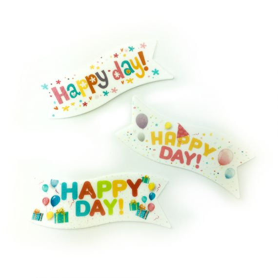 «Happy Birthday» wafer banners