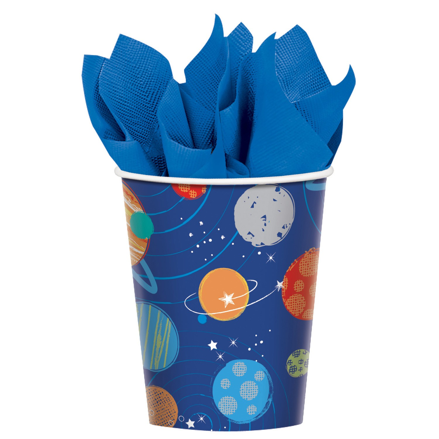 Blast Off Space cups x8