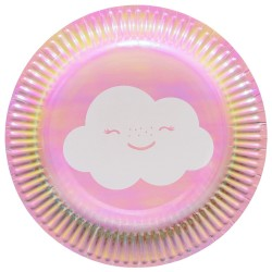 Assiettes  nuages Rainbow & clouds x8
