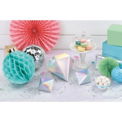 Kit de décoration de table en papier irisé Shimmering Party x3