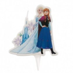 Pink Disneys Frozen candle