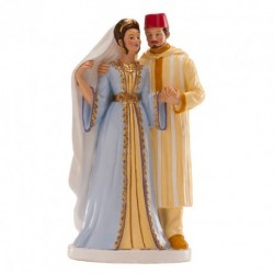 Married couple romantic figurine