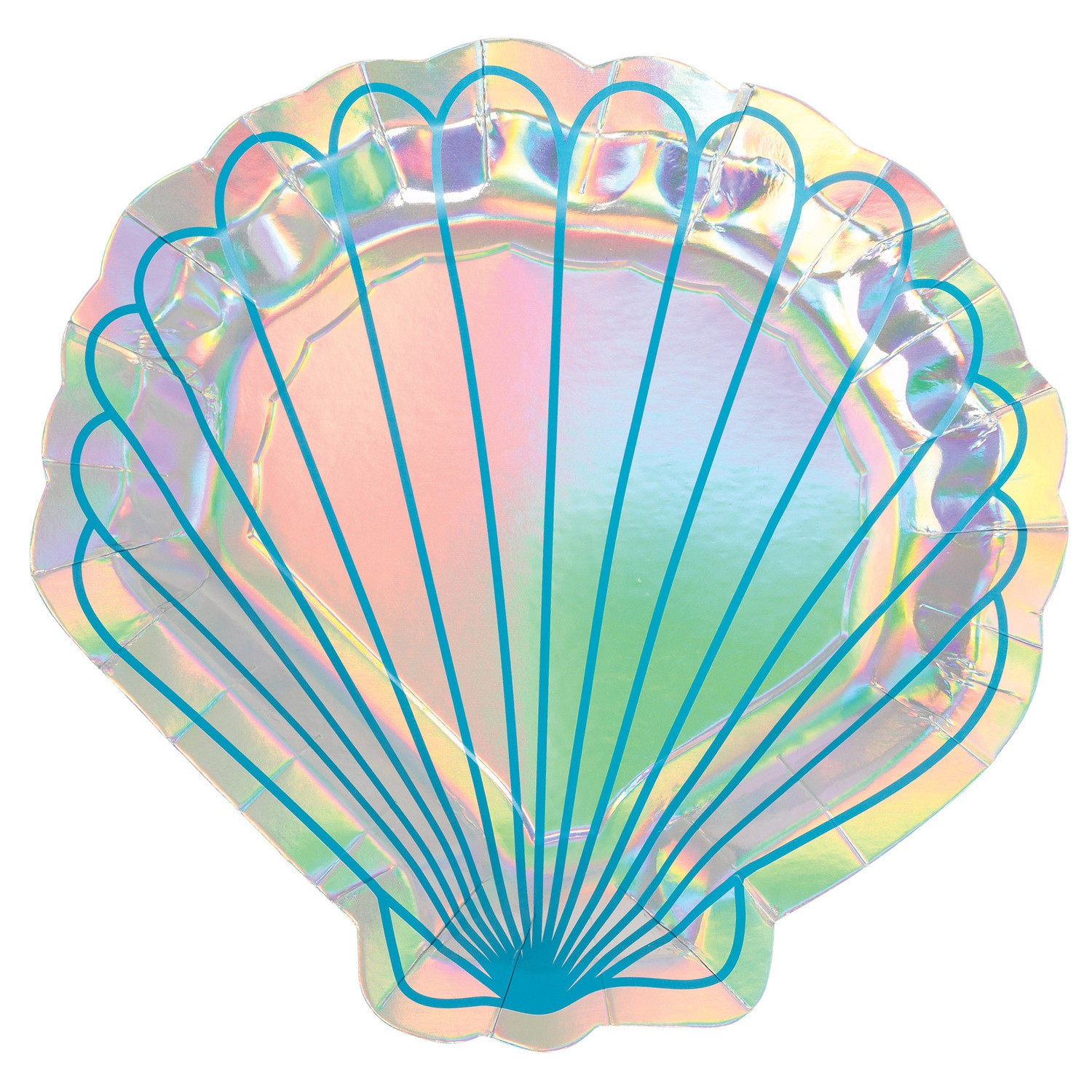Assiettes coquillages Mermaid Wishes x8