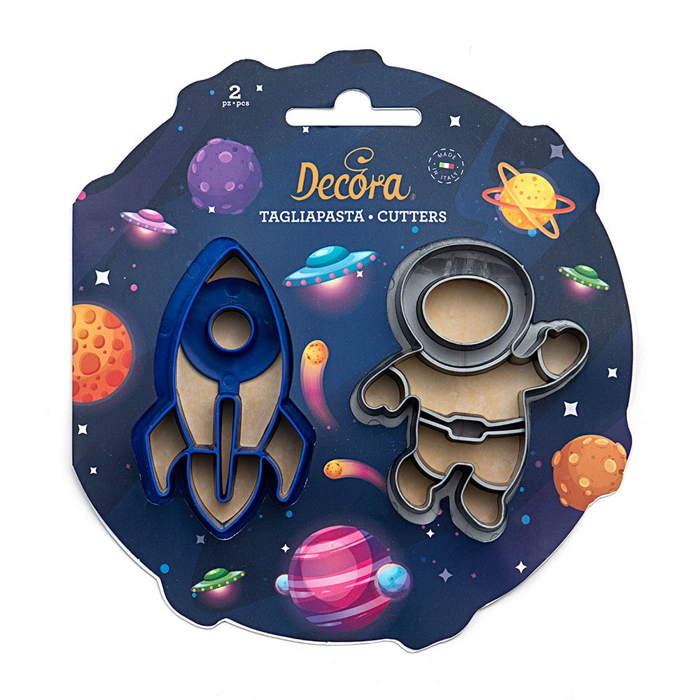 Space cookie cutter x2 - Rocket and astronaut