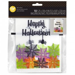 10 Sachets transparents Happy Halloween