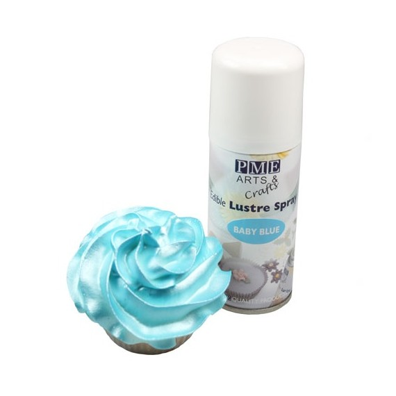Spray irisé bleu