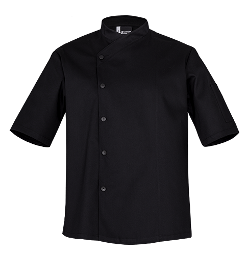 SFAX Black Chefs jacket - short sleeves