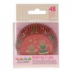 Christmas cupcake baking cups x150