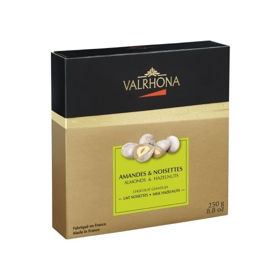 Valrhona coated almonds and hazel nuts pack