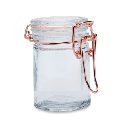 Mason jar with handle lid and straws x4