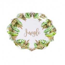 8 Assiettes en carton Tropical jungle