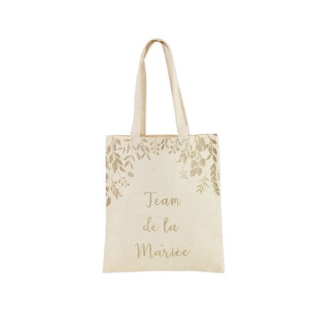 "Tote bag ""Team de la mariée"""