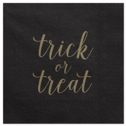 20 SERVIETTES EN PAPIER - TRICK OR TREAT