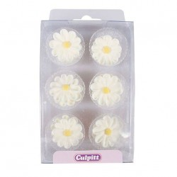 Small white flowers sugar decoration x36