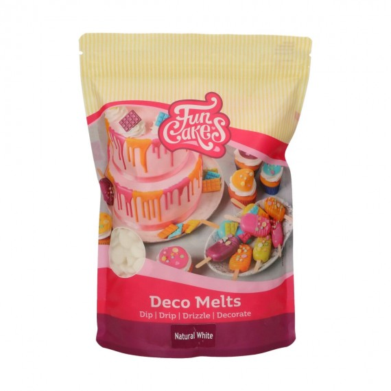 Deco Melts Blanc naturel Funcakes 1KG sans E171